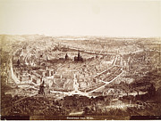 Viennese Metal Prints - VIENNA: PANORAMA, 19th C Metal Print by Granger