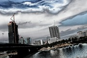 European City Digital Art - Vienna Skyline 2 by Sonja Bonitto
