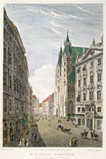 1822 Framed Prints - Vienna: St Stephens, 1822 Framed Print by Granger