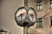 Czech Republic Digital Art Prints - Vienna Time Print by Barry R Jones Jr