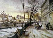 Viennese Metal Prints - Vienna: Winter Scene, 1888 Metal Print by Granger