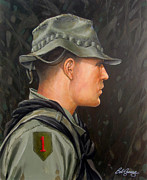 U.s Army Painting Metal Prints - Vietnam Portraits No.12 Metal Print by Bob  George