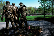 Vietnam Veterans Memorial Posters - Vietnam Veterans Memorial Memorial Day Poster by Thomas R Fletcher