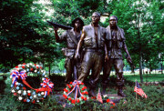 Veterans Memorial Posters - Vietnam Veterans Memorial  Poster by Thomas R Fletcher