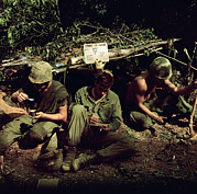Trio Photos - Vietnam War. Home Is Where You Dig by Everett