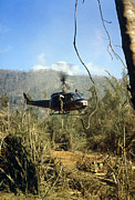 1960s Candids Art - Vietnam War, South Vietnam, A Uh-1d by Everett