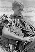Regiment Framed Prints - Vietnam War. Us Marine Takes A Break Framed Print by Everett