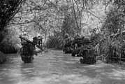Insurgency Prints - Vietnam War. Us Marines Move Print by Everett