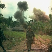 Tntar Prints - Vietnam War. Us Marines Walk Away Print by Everett