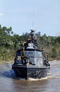 Tntar Prints - Vietnam War, U.s. Navy Inshore Patrol Print by Everett