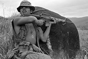 Candids Framed Prints - Vietnam War, Vietnam, Specialist. 4 Framed Print by Everett
