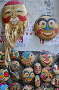 Variation Art - Vietnamese bamboo masks for sale by Sami Sarkis
