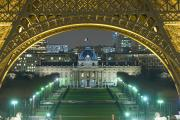 Historical Building Prints - View At Night From The Palais De Print by Axiom Photographic