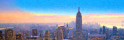 New York Digital Art Metal Prints - View From 30 Rock Metal Print by Michael Petrizzo
