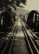 Kelly Jones Framed Prints - View From A Bridge - River Kwai Framed Print by Kelly Jones