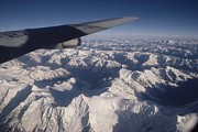 Tibet Framed Prints - View From A Plane Of The Mountainous Framed Print by Gordon Wiltsie