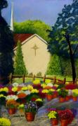 Prayer Pastels Prints - View From Arbor Meadow Print by Marita McVeigh