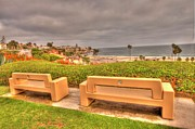 Park Benches Photos - View From Bluff by Charlie Hunt