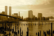 Wtc Prints - View From Brooklyn Bridge Park Print by Mark Gilman