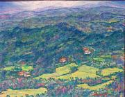 Mountain Valley Pastels - View From Carolina Enchantment by Sandy Hemmer