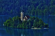 Bled Prints - View from Castle Print by Don Wolf