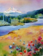 Mt. Bachelor Paintings - View from Catherine Creek by Jacqueline  Newbold