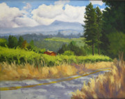 Sonoma County Painting Prints - View from Cherry Ridge Print by Char Wood