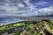 Diamond Head Framed Prints - View from Diamond Head Framed Print by Dan McManus
