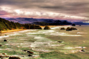 Sandy Beaches Posters - View From Ecola II Poster by David Patterson