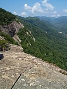 Chimney Rock North Carolina Posters - View from Exclamation Point at Chimney Rock NC Poster by Anna Lisa Yoder