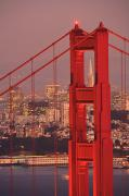 Red Buildings Framed Prints - View From Golden Gate National Framed Print by Stuart Westmorland