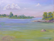 Howe Paintings - View From Grindstone Is NY to Howe Is by Robert P Hedden
