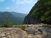 Chimney Rock North Carolina Prints - View from Hickory Nut Gorge NC Print by Anna Lisa Yoder