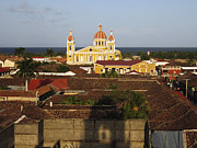Nicaragua Acrylic Prints - View From Iglesia La Merced Granada Nicaragua Acrylic Print by Kurt Van Wagner