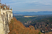 Fortifications Prints - View from Koenigstein Fortress Germany Print by Christine Till