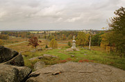 Gettysburg Framed Prints - View from Little Round Top 2 Framed Print by Mick Burkey