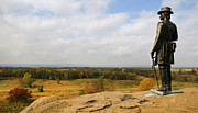 General Warren Posters - View from Little Round Top Poster by Mick Burkey