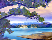 Violet Digital Art - View from Mohawk  Lake Cachuma by Kurt Van Wagner