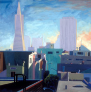 California Contemporary Gallery Framed Prints - View From My Studio Framed Print by Aaron Memmott