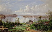 Beach Paintings - View From Onions Port Sydney  by William Charles Piguenit
