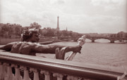 Bridge Prints Prints - View from Pont Alexandre III 2 Print by Kathy Yates