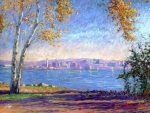 Pastels Posters - View from Presque Isle Poster by Michael Camp