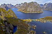 Lofoten Islands Posters - View from Reinebringen Poster by Heiko Koehrer-Wagner