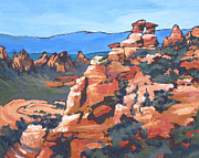 Sedona Painting Prints - View from Schnebly Hill Print by Sandy Tracey