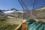 Old Objects Photos - View From Tent Of Russell Peak by Alan Majchrowicz