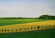 Germany Painting Originals - View From the Autobahn by Stewart Hitelman