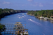 St. Augustine Florida Posters - View From The Bridge of Lions Poster by DigiArt Diaries by Vicky Browning