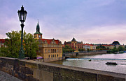 Vltava River Photos - View from the Charles Bridge Revisited by Madeline Ellis