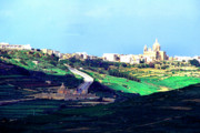 Gozo Acrylic Prints - View from the Citadel Victoria Gozo Acrylic Print by Thomas R Fletcher