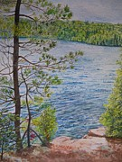 Canada Paintings - View From the Jumping Rocks by Lori Kallay